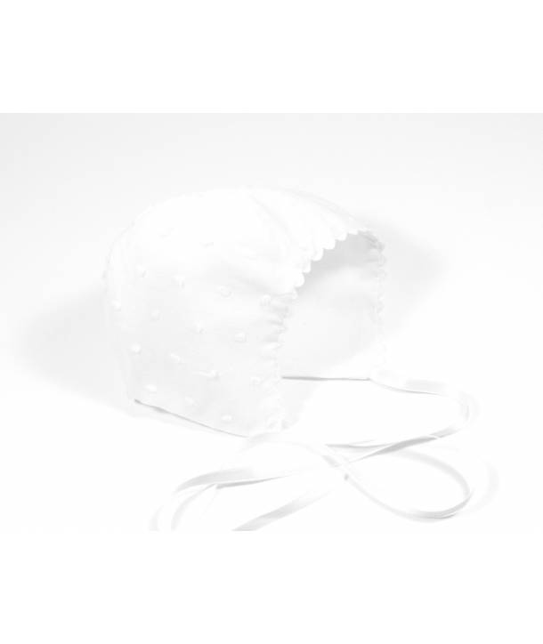 Béguin Aimé Plumetis blanc 36 cm