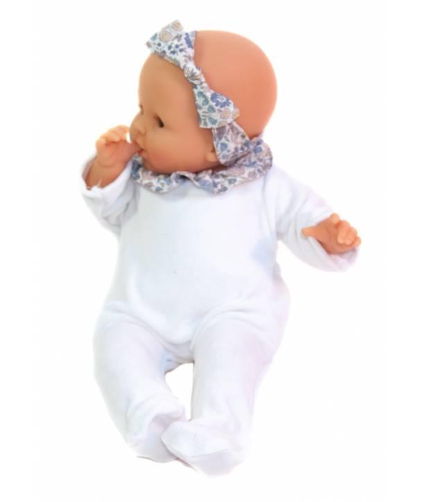 Pyjama Philémon Blanc / d'Anjo bleu 30 cm