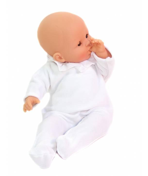 Pyjama Philémon Blanc / Plumetis blanc 30 cm