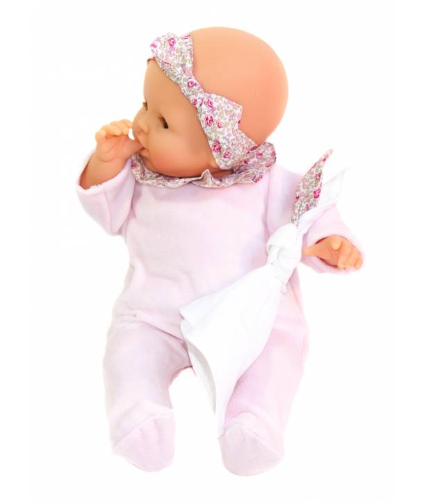 Pyjama Philémon Rose pâle / Eloïse rose 30 cm