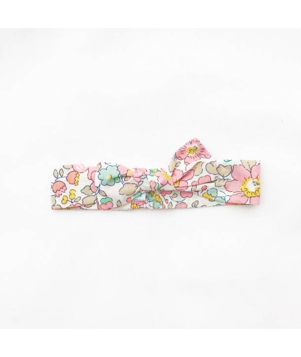 """Léontine"" headband - Wiltshire fuchsia - 12 inches"