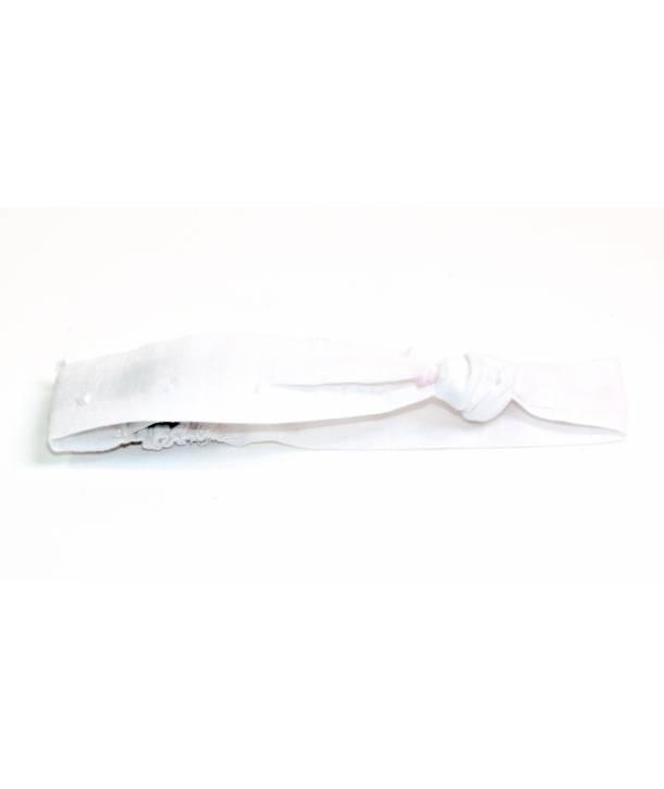Bandeau Rosalie Blanc 30 cm